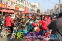 淮滨县北城集市上拍摄一组半啦集动态照